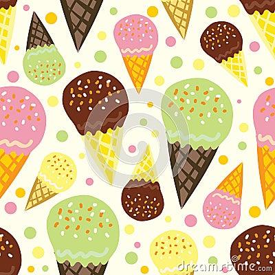 Cream ice pattern