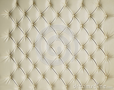 CREAM LEATHER PADDED STUDDED LUXURY BACKGROUND