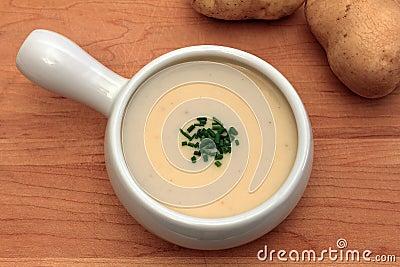 Cream of onion and potato soup