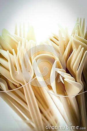 Cream Plastic Cutlery