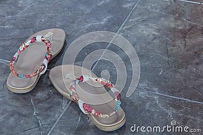 Cream sandal for the women