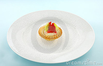Cream And Strawberry tart