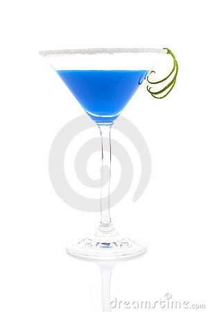 Creamy blue cocktail.