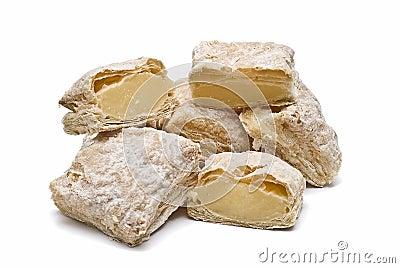 Creamy cakes for brakfast.