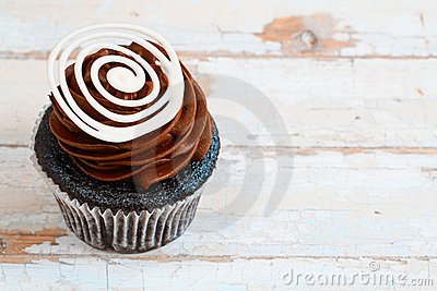Creamy chocolate cupcake