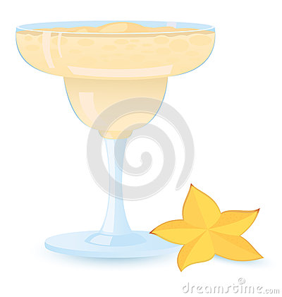 Creamy cocktail vector illustration