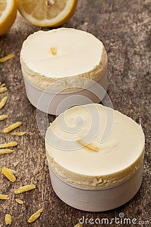 Creamy lemon souffle
