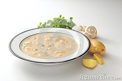 Creamy potato mushroom soup
