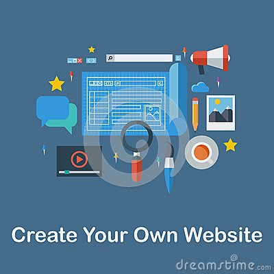 Create Your Own Website Stock Photo Image 47560236