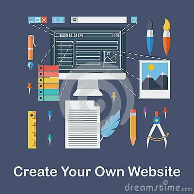 Create your own website stock vector image 47578663 Start my own website