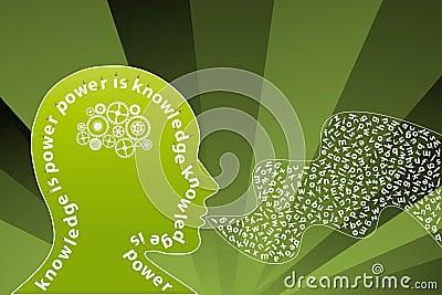 Creatieve de meningsspreker van de kennis