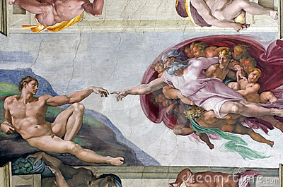 Creation of Adam Editorial Stock Image