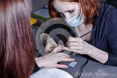 Creation manicure stock photo image 40741073 for A new creation salon