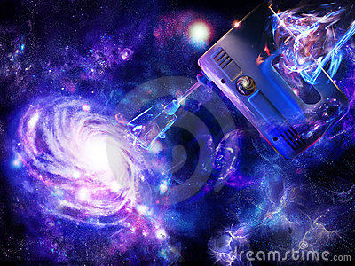 Creation of a spiral galaxy
