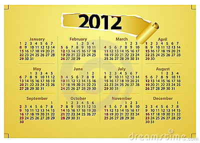 Creative 2012 Calender Template Royalty Free Stock Photos - Image: 20503068