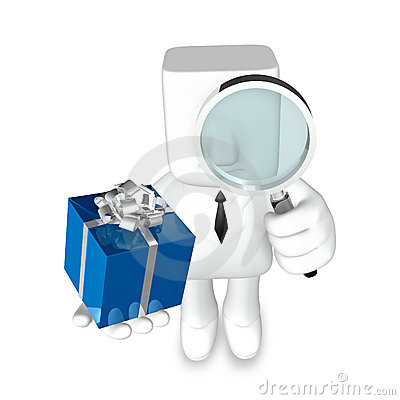 Creative 3d business man gift