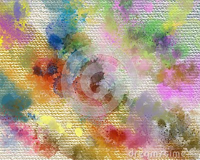 Dry Acrylic paints stain. Creative abstract hand painted background. Acrylic painting strokes on canvas. Modern Art. Stock Photo
