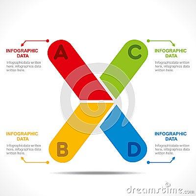 Creative alphabet info-graphics