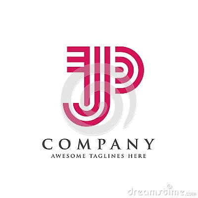 Free Creative And Simple Letter JP Logo Stock Photography - 115453552