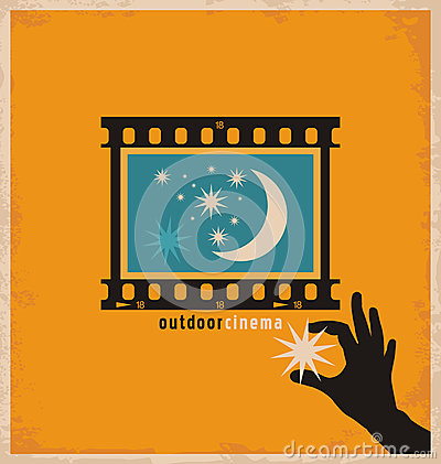 Free Creative And Unique Design Concept For Outdoor Cinema Stock Images - 36824164