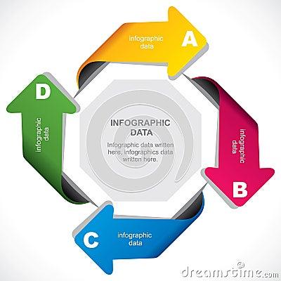 Creative arrow infographic design