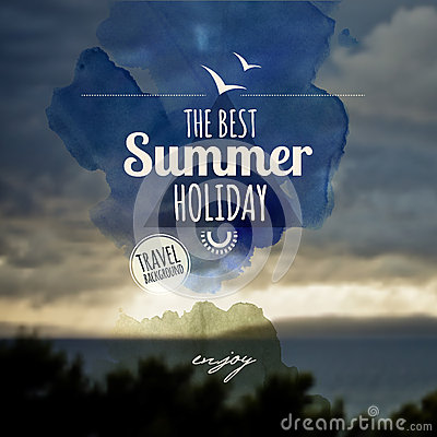 Creative art graphic message for your summer