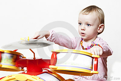 Creative baby play drums