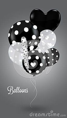 Creative balloon on a gray background