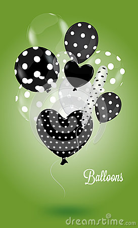 Creative balloon on a green background