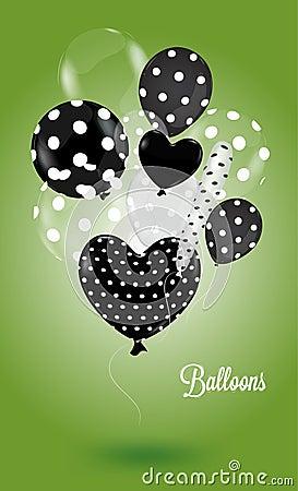 Creative balloon on a green background