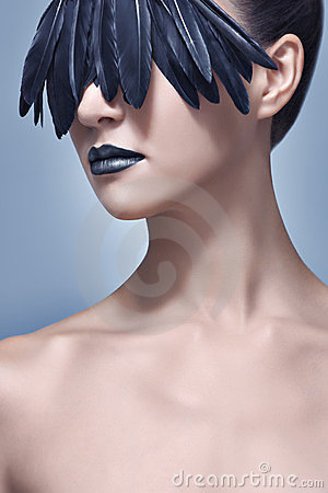 Creative Bird Feather Make-up