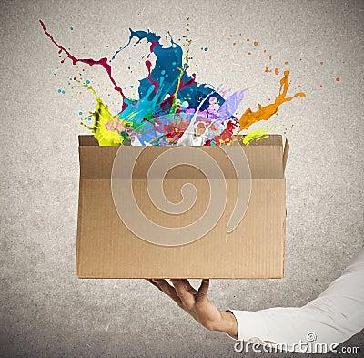 Free Creative Box Royalty Free Stock Photo - 31589055