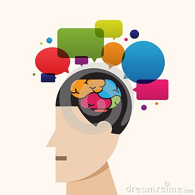 Free Creative Brain Thinking Process Idea, Speech Bubble Vector Stock Image - 130616911