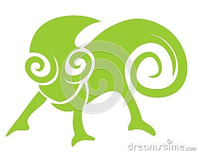 Creative chameleon style icon