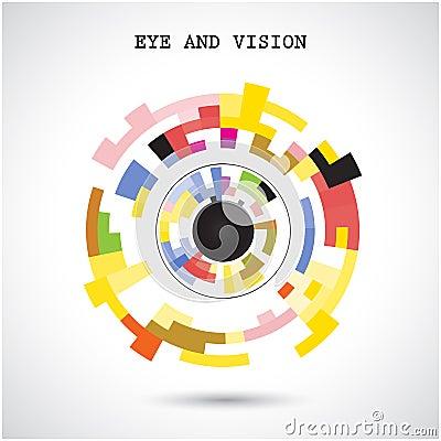 Free Creative Circle Abstract Vector Logo Design Background. Eye And Stock Photo - 49854200