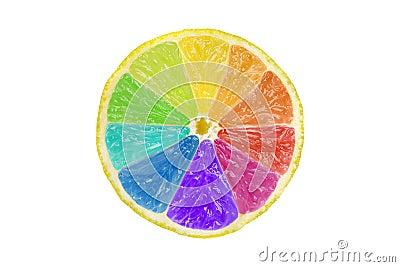 Creative Citrus Color Wheel Stock Photo