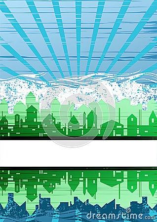 Creative city theme background