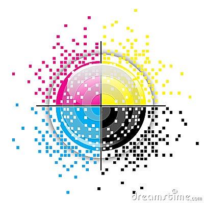 Free Creative CMYK Design Royalty Free Stock Images - 25519429