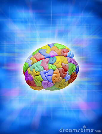 Free Creative Colorful Brain Royalty Free Stock Images - 7383739