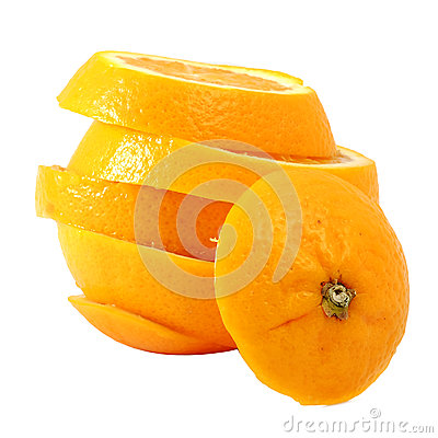 Creative compose slide navel orange Stock Photo