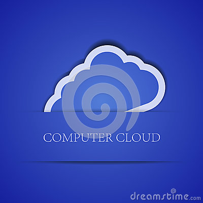 Creative computer cloud background.  illustration