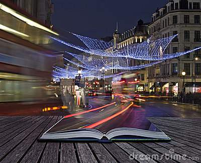 Creative concept idea of London Christmas lights