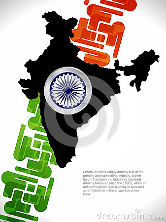 Creative design with map of india
