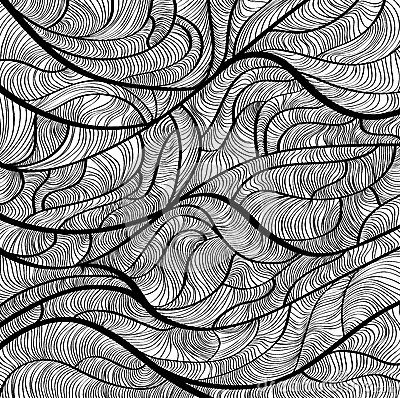 Creative design hand drawn sketchy pattern vector. eps8.
