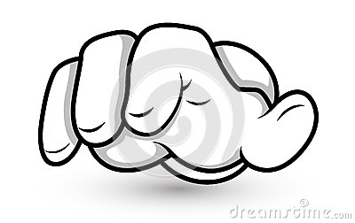 Cartoon Hand - Fingers Pointing - Vector Illustration