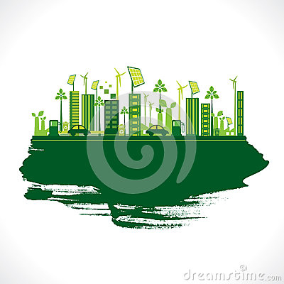 Creative eco-friendly city design vector
