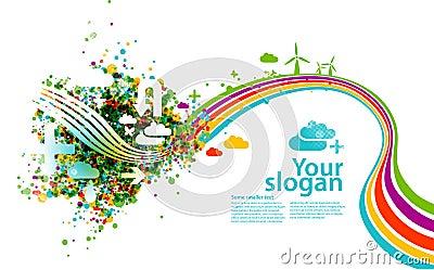 Creative eco illustration