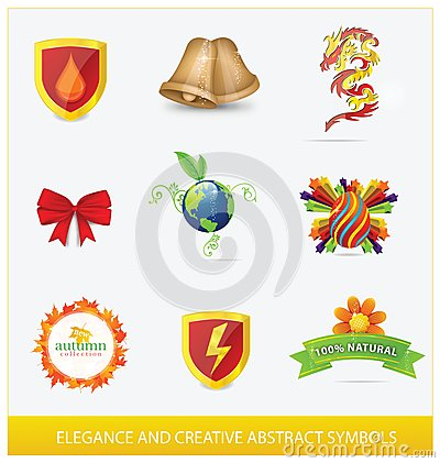 Creative elegance web and nature sign