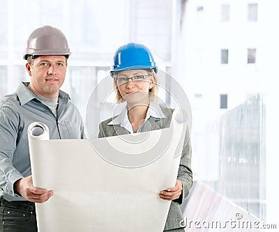 Creative engineer coworkers