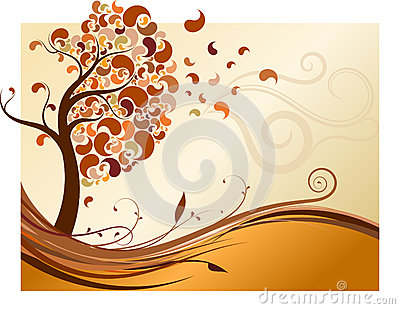 Creative fall tree